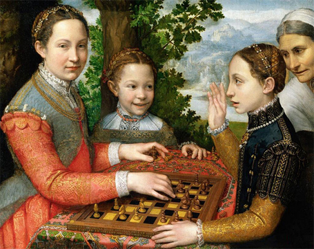 Sofonisba Anguissola's painting of her sisters playing chess